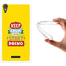 Funda Sony Xperia T3, WoowCase [ Sony Xperia T3 ] Funda Silicona Gel Flexible Keep Calm and Start Doing, Carcasa Case TPU Silicona