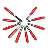 PhilMat 10pcs stinco di 3.175 mm di fondo di appartamento di carburo di 30 ° 0.1 mm pcb incisione di coltelli d'incisione di computer di pezzettini