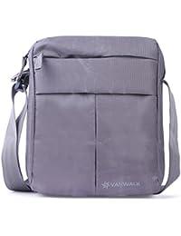 Vanwalk Grey Men, Boys, Women, Girls Casual Nylon Unisex Sling Bag