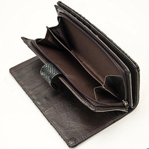Portafoglio, Portemonnaie, Donna, pelle, taglia M & L, Mod. 5016 by Fashion-Formel nero taglia L