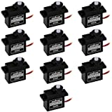 Osoyoo 10PCS micro servo motor SG90 9G RC Robot/Helicopter/Airplane controls for Robot 6ch Rc Helicopter Airplane Controls Arduino by OSOYOO