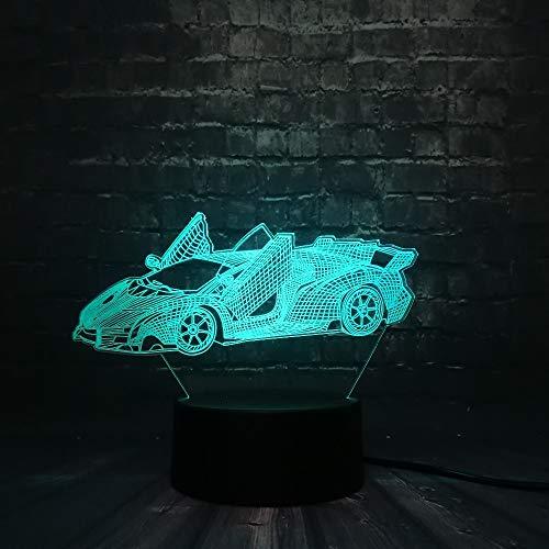Orangeww Racing 3d / led Nachtlicht/dekorative Usb Lichter Schlafzimmer Schlaf Licht / 7 Farbe Rc Auto/Baby Weihnachtsgeschenk/Spielzeug Led Nachtlicht/Touch