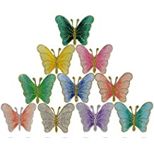 10 Pcs Parches Pegatinas Apliques Bordados Termoadhesivos de Mariposa para Decoración de Ropa Chaquetas Vestidos Cazadoras Vaqueros