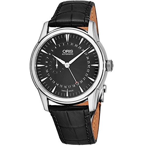 Oris Men's 42mm Leather Band Steel Case Automatic Watch 01 744 7665 4054-LS