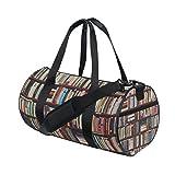 MyDaily Gym Sporttasche Bibliothek Bücherregal Duffle Reisetasche für Damen und Herren
