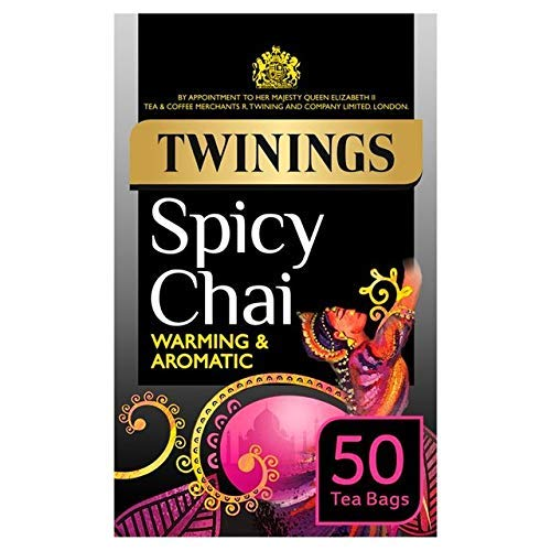 Twinings Spicy Chai Tea 50 Envelopes (Pack of 4)