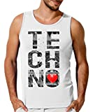 I Love Techno Music Graphic Graphic Design Mens Tank Top T-Shirt