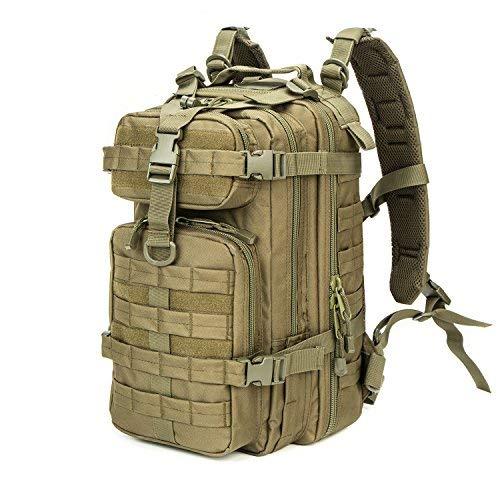 XWLSPORT Military Tactical Rucksack Army Kleine 3Day Assault Pack Military Sport Camping Wandern Trekking Bag für Schule Reisen Gym Carrier, O.D. Green -