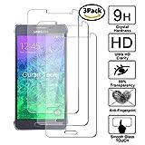 Guran [3 Pezzi] Pellicola Protettiva per Samsung Galaxy Alpha (G850, 4.7') Smartphone Ultra Sottile Screen Protector in Vetro Temperato Film Ultra Resistente