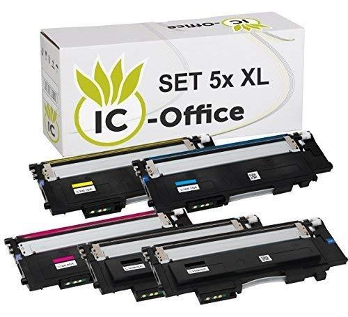IC-Office 5X XL Toner Set Multipack kompatibel für Samsung CLT-404S-ELS CLT-404S CLT-404 CLT-P404C für Xpress C430 Series C430W C480 Series C480FN C480FW C480W - Kompatibel Toner Neu-trommel