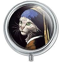 Die Katze mit The Pearl Ohrring Mädchen Johannes Vermeer Pille Fall Schmuckkästchen Geschenk-Box preisvergleich bei billige-tabletten.eu