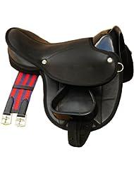 Frange De Selle Shetty Little Billy, Kit complet aussi pour chevaux de bois–Couleur: BOIS Kit selle Noir pour poney ou ou Shetty Chevaux