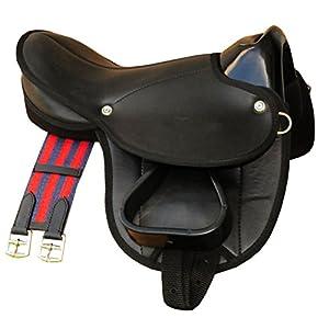 Reitsport Amesbichler AMKA Pony-Shettysattel LittleBilly, komplettes Set auch für Holzpferde – schwarz Sattelset für…