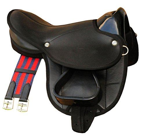 Pony-Shettysattel LittleBilly, komplettes Set auch für Holzpferde - Farbe: schwarz Sattelset für Pony oder Shetty oder Holzpferde
