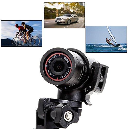 LeaningTech F9 Sportaktion Mini Kamera HD1080P DVR Video Recorder Helm/Fahrrad/Auto Wasserdicht Weitwinkel Action Camcorder Helmkamera Fahrradkamera