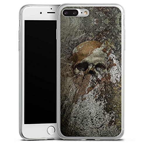 Apple iPhone X Slim Case Silikon Hülle Schutzhülle Skull Totenkopf Bones Silikon Slim Case transparent