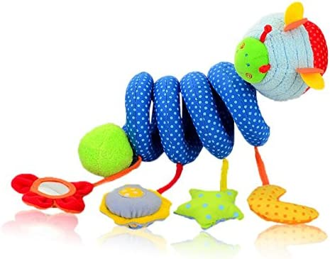 Mings Doux et sûr Jouets en Peluche de lit de bébé Nouveau-né avec Le Miroir de coléoptère et Le Jouet de Landau de développeHommes t de Bell (Beetle) | Matériaux Sélectionnés Avec Soin