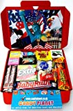 American Miniatures Candy Gift Box Hamper | Try Lots of American Classics | Letterbox Friendly | Glossy Red Hamper Box | Hershey's Reese's | 15 Items | Mini Hamper Exclusive to CANDYPLANET