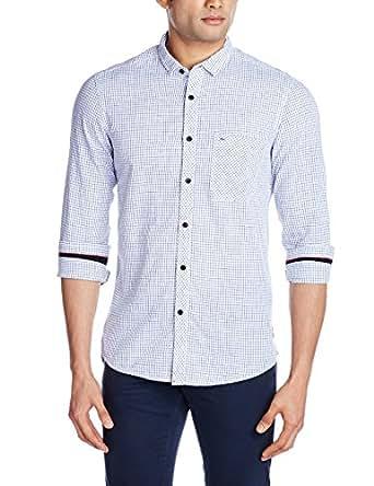 Indigo Nation Men's Casual Shirt (8907372298252_1ISE1542_Blue_40)