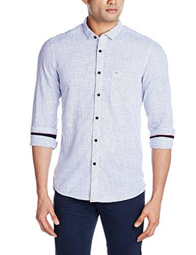 Indigo Nation Men's Casual Shirt (8907372298245_1ISE1542_Blue_39)