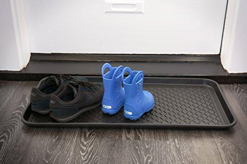 Multifunktionsschacht und wasserdichte Matte–Schuhe & Stiefel Tablett, PET Schüssel Matte (76,2x 38,1cm)
