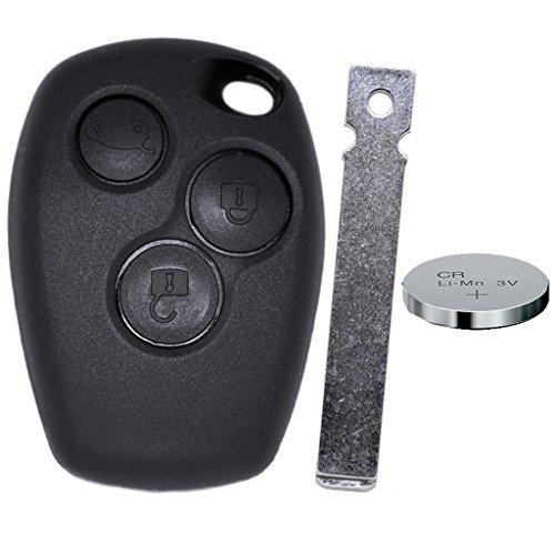 Auto chiave telecomando 1X Alloggiamento 3tasti + 1X manicotto VA2+ 1X Cr2016Batteria per Renault/DACIA/Opel