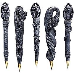 Design Toscano CL993074 Collezione Penne Sculturali Gargoyle e Draghi, Grigio