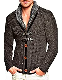 Tazzio cardigan col châle pull en tricot 14-418