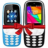 I KALL K3310(Light Blue) And K35(Dark Blue) Combo Of Dual Sim Mobile With 101 Days Replacement Warranty With 1 Year Manufacturer Warranty