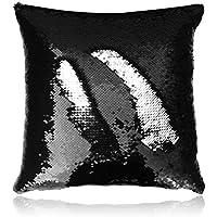 San Tungus 40,6x 40,6cm rosegold und silber, wendbarer Pailletten-Kissenbezug, Textil, schwarz / silber, 16 x 16 Inch(without insert)