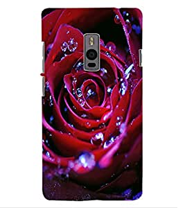 ColourCraft Beautiful Rose Design Back Case Cover for ONEPLUS TWO