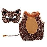 Sharplace Ropa de Fiesta de Halloween Carnaval de Niños + Máscara Facial de Leopardo Adornos de Navidad Regalos para Niños - M