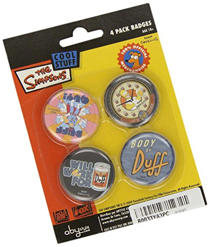 Simpsons Duff Bier (ABYstyle ABYACC051 - Button-Set, Duff Bier Simpsons)