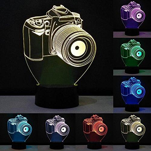 Neuheit 3D Acryl Entertainment Kamera Illusion LED Lampe USB Nacht Licht RGB Leuchte Romantisches Nachttisch Dekoration Lampe