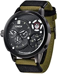 Vovotrade 30M impermeables para hombre reloj de lujo militares reloj de cuarzo analógico de pulsera deportivo (Verde)