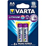 Varta Batterie a Litio, Stilo AA, Confezione da 2 Pezzi