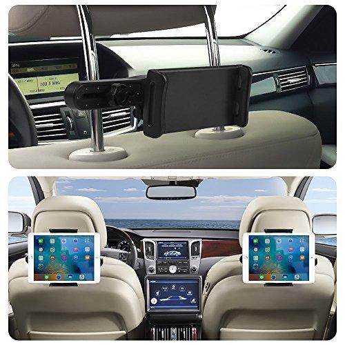 Universal iPad Tablet Kopfstütze Halterung Auto Tablet Halter Ständer Sitz Halterung für iPad Mini 2/3/4, andere 5 - 11 Zoll Tablet, iPod touch2 / 3/4, ipad 2/3/4 / Mini / Air (Schwarz)