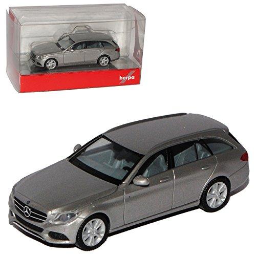 Herpa Mercedes-Benz C-Klasse Avantgarde T-Modell Kombi Brilliant Silber W205 Ab 2014 H0 1/87 Modell Auto