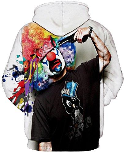 TDOLAH Herren 3D Druck Kapuzenpullover Cartoon Sweatshirt Weihnachten Langarm Top Shirt Herbst Spaß Hoodie Clown