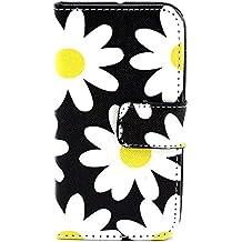 Apple iPhone 4 4S caso del basamento di, Cover Design Elecday ragazze raccoglitore astuto, pelle ibrida di protezione Slim Film, Built-in [Denaro / credito / ID Slot per scheda] [#8]
