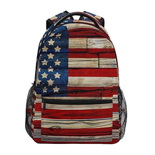 Zzkko bandiera americana in legno in stile college zaini scuola ...