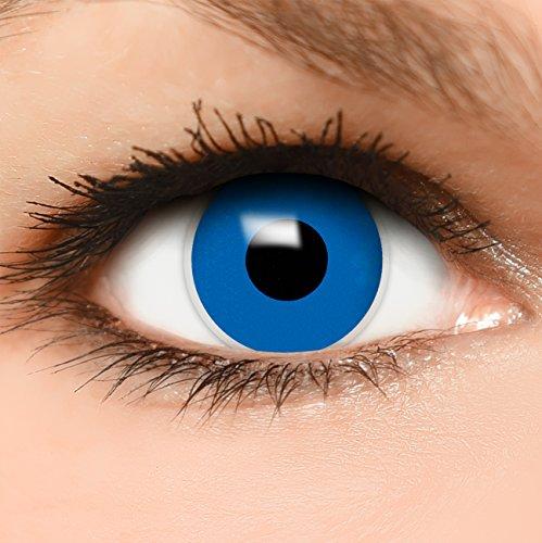 Farbige Kontaktlinsen Dunkel Blau in blau + Behälter - Top Linsenfinder Markenqualität, 1Paar (2 Stück)
