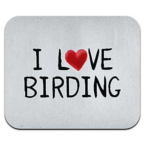 Graphics and More I Love Birding Written on Paper Mouse Pad Mousepad
