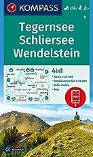 Tegernsee, Schliersee, Wendelstein: 4in1 Wanderkarte 1:50000 mit Aktiv Guide und Detailkarten inklusive Karte zur offline Verwendung in der ... Langlaufen. (KOMPASS-Wanderkarten, Band 8)