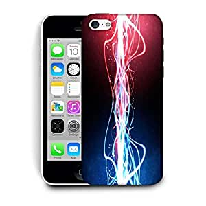 Snoogg Neon Multicolor Rays Printed Protective Phone Back Case Cover For Apple Iphone 6 / 6S