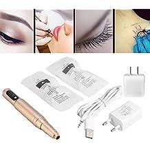 Maquillaje cejas permanente maquillaje del delineador de ojos del labio de la ceja 2 agujas no