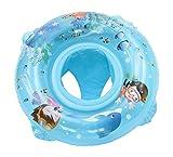 Lukis Baby Kleinkind Schwimmtrainer Aufblasbarer Schwimmring Babypool für 2-6 Jahre 67cm Blau