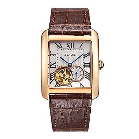 BINLUN - Herren -Armbanduhr- BL0067G-LRWC-B