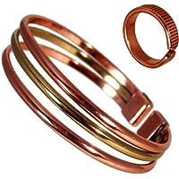 The Online Bazaar Magnetischer Kupfer & Messing Dreifach Armband mit Geätzten Linien zu beenden magnet kupfer... preisvergleich bei billige-tabletten.eu