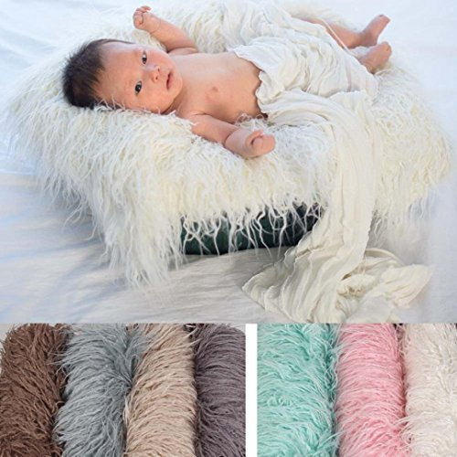 kingko® Baby hundert Tage Schießen Decke Pad Neugeborenes Baby Girl Wrap Fotografie Prop Baby Foto Prop Rosa